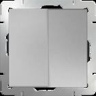 Выключатель 2 кл, WL06-SW-2G - серебряный, Werkel