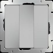 Выключатель 3 кл, WL06-SW-3G - серебряный, Werkel