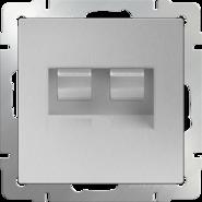 Werkel Розетка двойная Ethernet RJ-45 (серебряный)