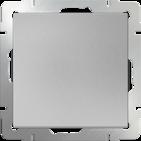 Переключатель перекрестный 1 кл, WL06-SW-1G-C - серебряный, Werkel
