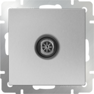 Розетка ТВ оконечная, WL06-TV - серебряный, Werkel