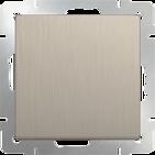 Выключатель проходной 1 кл, WL10-SW-1G-2W - шампань рифленый, Werkel