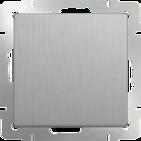 Выключатель 1 кл, WL09-SW-1G - серебряный рифленый, Werkel