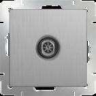 Розетка ТВ оконечная, WL09-TV - серебряный рифленый, Werkel
