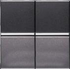 Переключатель двухклавишный проходной ABB Zenit антрацит (2 х N2102 AN)