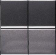 Переключатель проходной 2 кл - антрацит, ABB Zenit (2 х N2102 AN)