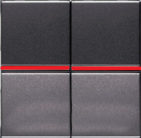 Переключатель двухклавишный промежуточный с подсветкой ABB Zenit антрацит (2 х N2110 AN + 2 х N2192 RJ)