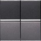 Переключатель двухклавишный промежуточный ABB Zenit антрацит (2 х N2110 AN)