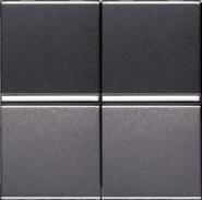 Переключатель промежуточный, 2 кл - антрацит, ABB Zenit (2 х N2110 AN)