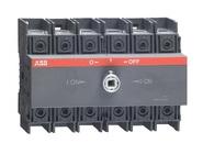 Реверсивный рубильник 63А, 3-полюсный для установки на DIN-рейку или монтажную плату (без ручки), ABB OT63F3C