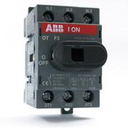 Рубильник 40A нереверсивный, 3х-полюсный на Din-рейку или монтажную плату, ABB OT40F3