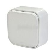 Переключатель 1-но клавишный проходной - 10А - белый