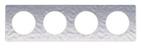 Рамка 4 поста алюминий/мартель Schneider Electric Odace (S52P808K)
