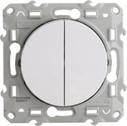 Выключатель двухклавишный Schneider Electric Odace белый