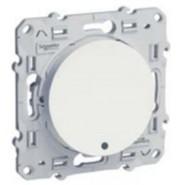 Выключатель одноклавишный с LED подсветкой Schneider Electric Odace белый