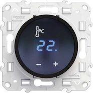 Термостат теплого пола с сенсорным дисплеем (черный), Schneider Electric Odace (S52R509)