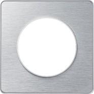 Рамка 1 пост полированный алюминий Schneider Electric Odace (S53P802J)