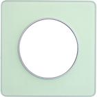Рамка 1 пост зеленый лед/алюминий Schneider Electric Odace (S53P802S)