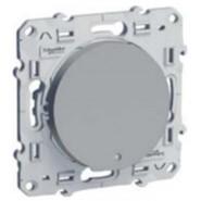 Выключатель одноклавишный с LED подсветкой, Schneider Electric Odace алюминий (S53R263/S52R291)