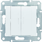 Выключатель 2клавишный, белый Schneider Electric Sedna