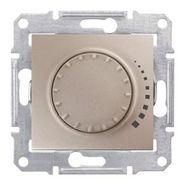 Светорегулятор поворотный, проходной диммер - 500Вт, титан Schneider Electric Sedna
