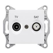 TV/SAT розетка оконечная, белая Schneider Electric Sedna