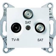 TV/R/SAT розетка оконечная, белая Schneider Electric Sedna