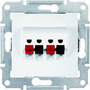 Аудио розетка х2, белая Schneider Electric Sedna