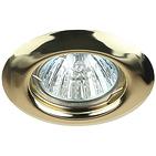 Светильник золото, неповоротный MR16, 50W, ЭРА ST3 GD
