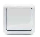 Выключатель 2-х клавишный влагозащищённый - IP44, 10А - белый