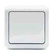 Переключатель проходной 1-но клавишный влагозащищённый - IP44, 10A - белый