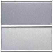 Переключатель проходной - серебро, ABB Zenit (N2202 PL)