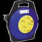 10м 4гн Удлинитель на катушке силовой 4 розетки шнур 10м ПВС 3х1.5 УК10т с термозащитой IEK (WKP10-16-04-10)