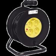 20м 4гн Удлинитель на катушке силовой 4 розетки шнур 20м ПВС 3х1.5 УК20т с термозащитой IEK (WKP10-16-04-20)