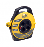 10м 4гн Удлинитель на катушке силовой 4 розетки шнур 10м ПВС 3х1.0 УК10 IEK (WKP14-10-04-10)