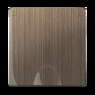 Накладка для розетки IP44 с крышкой, WL12-SKGSC-IP44-CP - бронзовый, Werkel