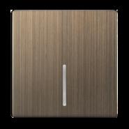 Клавиша для выключателя c подсветкой, WL12-SW-1G-LED-CP - бронзовый, Werkel