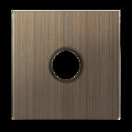 Накладка для розетки ТВ оконечной, WL12-TV-CP - бронзовый, Werkel