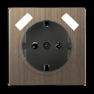 Накладка для USB розетки, WL12-USB-CP - бронзовый, Werkel