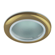 Светильник золото, влагозащищённый IP44, MR16, 50W, ЭРА WR1 GD