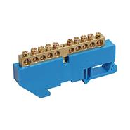 Шина нулевая на DIN-изолятор ШНИ-6х9-12-Д-С (YNN10-69-12D-K07)