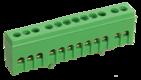 Шина ЗЕМЛЯ в корпусе изолированная на DIN-рейку ШНИ-6х9-12-К-З (YNN10-69-12KD-K06)