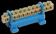 Шина нулевая на DIN-изолятор типа Стойка ШНИ-6х9-12-С-С