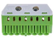 ABB Mistral Колодка клеммная самозажимная PE 8х4кв.мм-2х25кв.мм. (заземление)  ZK82G (1SPE007715F9713)