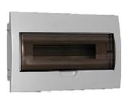 18 модулей Бокс встраиваемый ЩРв-П-18 IP40 пластиковый белый прозрачная дверь IEK MKP12-V-18-40-10