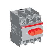 Рубильник 100A нереверсивный, 3х-полюсный на Din-рейку или монтажную плату, ABB OT100F3