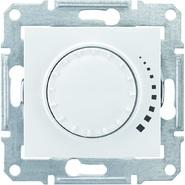 Светорегулятор поворотный, проходной диммер - 500Вт, белый Schneider Electric Sedna