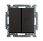 Выключатель 2 кл., черный, ABB Basic 55 (1012-0-2177)