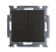 Переключатель 2 кл., черный, ABB Basic 55 (1012-0-2181)