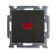 Переключатель 1 кл. с подсветкой и N-клеммой, черный, ABB Basic 55 (1012-0-2180)